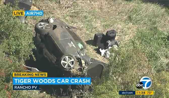 Impacto mundial: Tiger Woods sufre grave accidente automovilístico en California