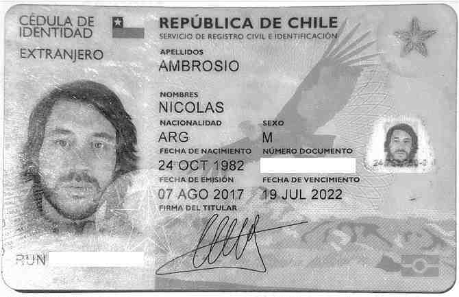 Nicolás Ambrosio, el presunto suplantador de Alexis Martín Arias